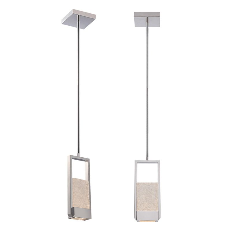 "Modern Forms PD-52512 Swing 12"" Height LED Dimming Pendant Chrome"