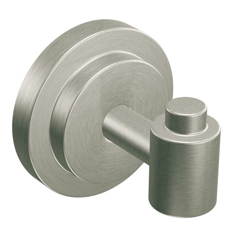 Moen DN0703 Robe Hook from the Iso Collection Brushed Nickel Accessory