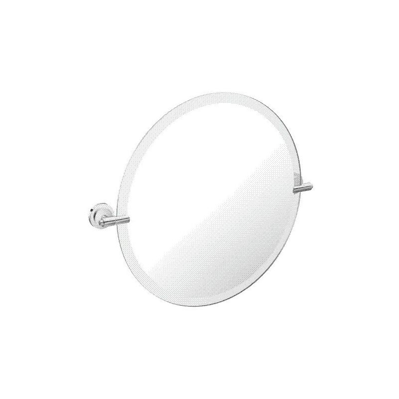 "Moen DN0792 22"" Tall Tilting Round Mirror from the Iso Collection"