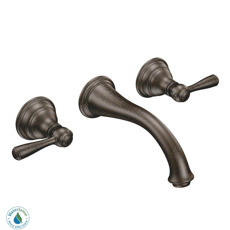 Moen T6107 Double Handle Wall Mounted Bathroom Faucet from the Sale $372.12 ITEM: bci1030507 ID#:T6107ORB UPC: 26508166055 :