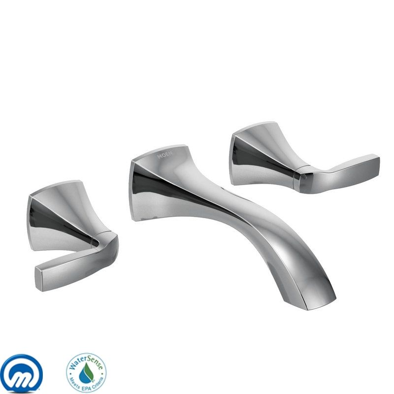Moen T6906 Double Handle Wall Mount Bathroom Faucet from the Voss Sale $207.68 ITEM: bci1958855 ID#:T6906 UPC: 26508230671 :