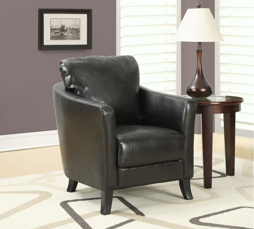 Monarch Specialties Faux leather accent chair III Faux Leather