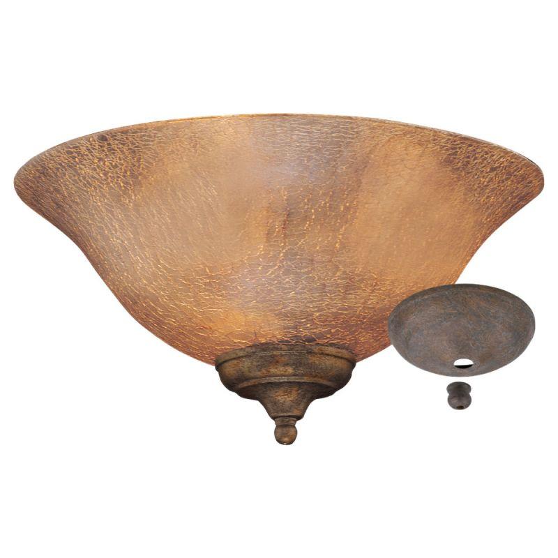 Monte Carlo MC144 Amber Crackle Bowl Light Kit Florentine Bronze / Old