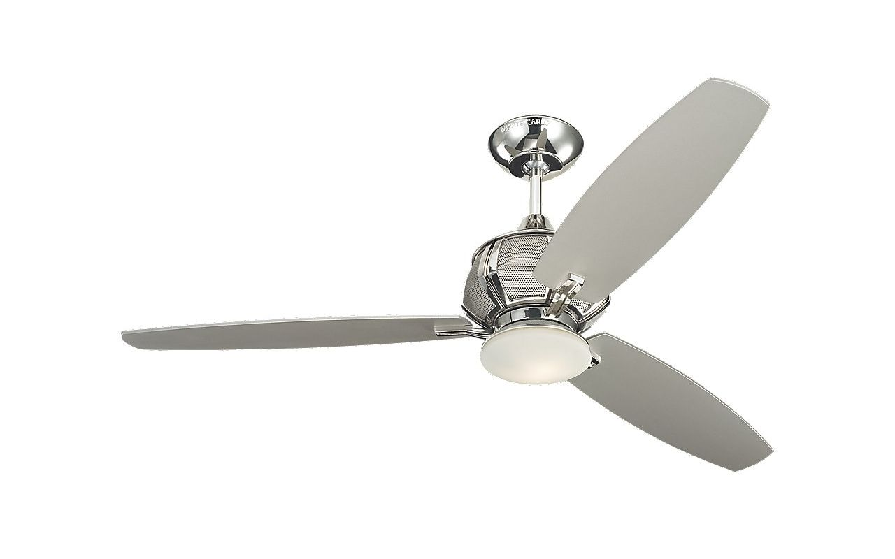 monte carlo 3acr52pnd polished nickel 3 blade 52 ceiling fan blades. Black Bedroom Furniture Sets. Home Design Ideas