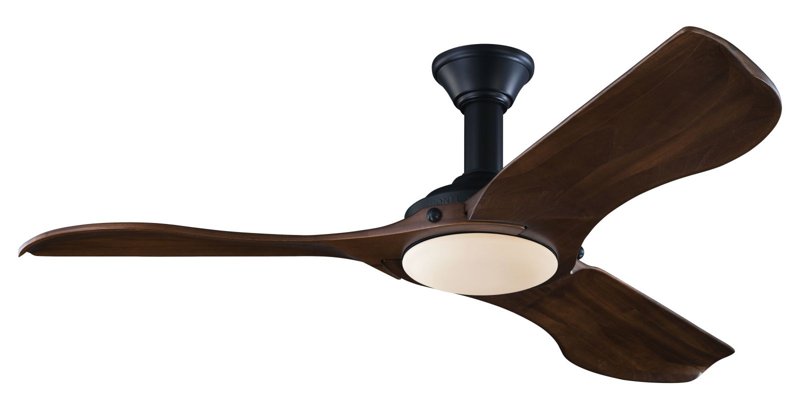 "Monte Carlo Minimalist 3 Bladed 56"" Indoor Ceiling Fan - LED Light Kit"