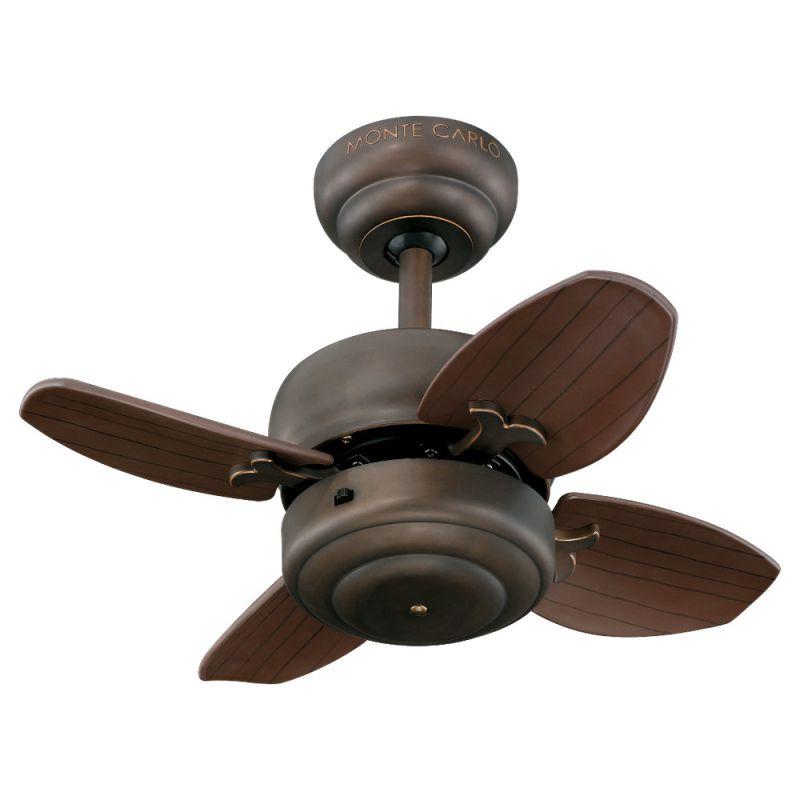 Monte Carlo 4mc20rb Roman Bronze Four Bladed 20 Quot Mini Indoor Ceiling Fan Lightingdirect Com