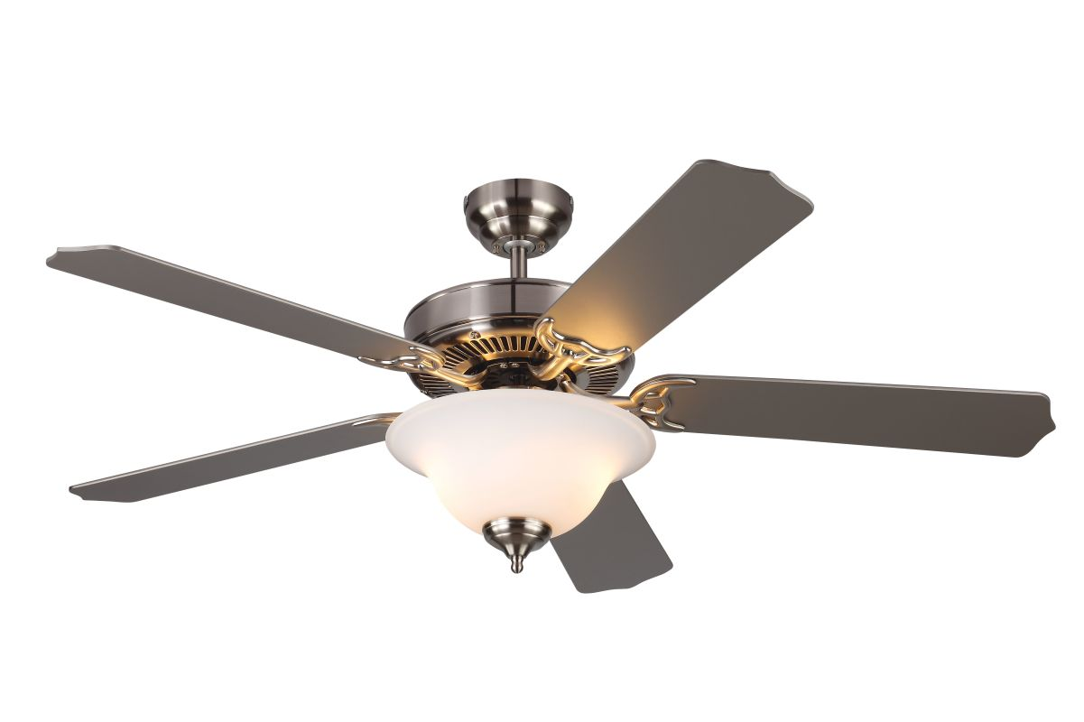 Ceiling Fans With Lights Energy Star : Monte carlo hm bsnd brushed steel bladed quot energy