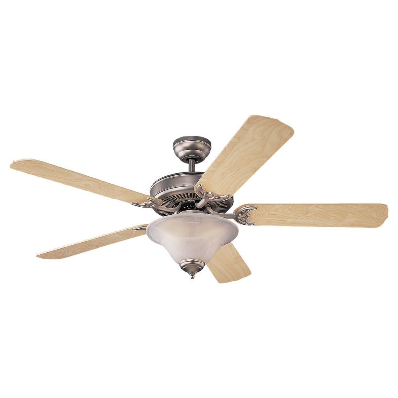 Monte Carlo Homeowner Deluxe 52 Inch Indoor Ceiling Fan Brushed Pewter