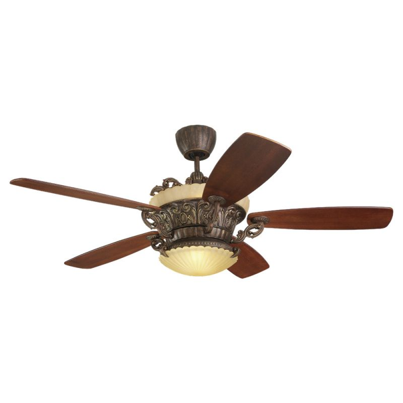 """Monte Carlo Strasburg Five Blade 56"""" Indoor Ceiling Fan with Included"""