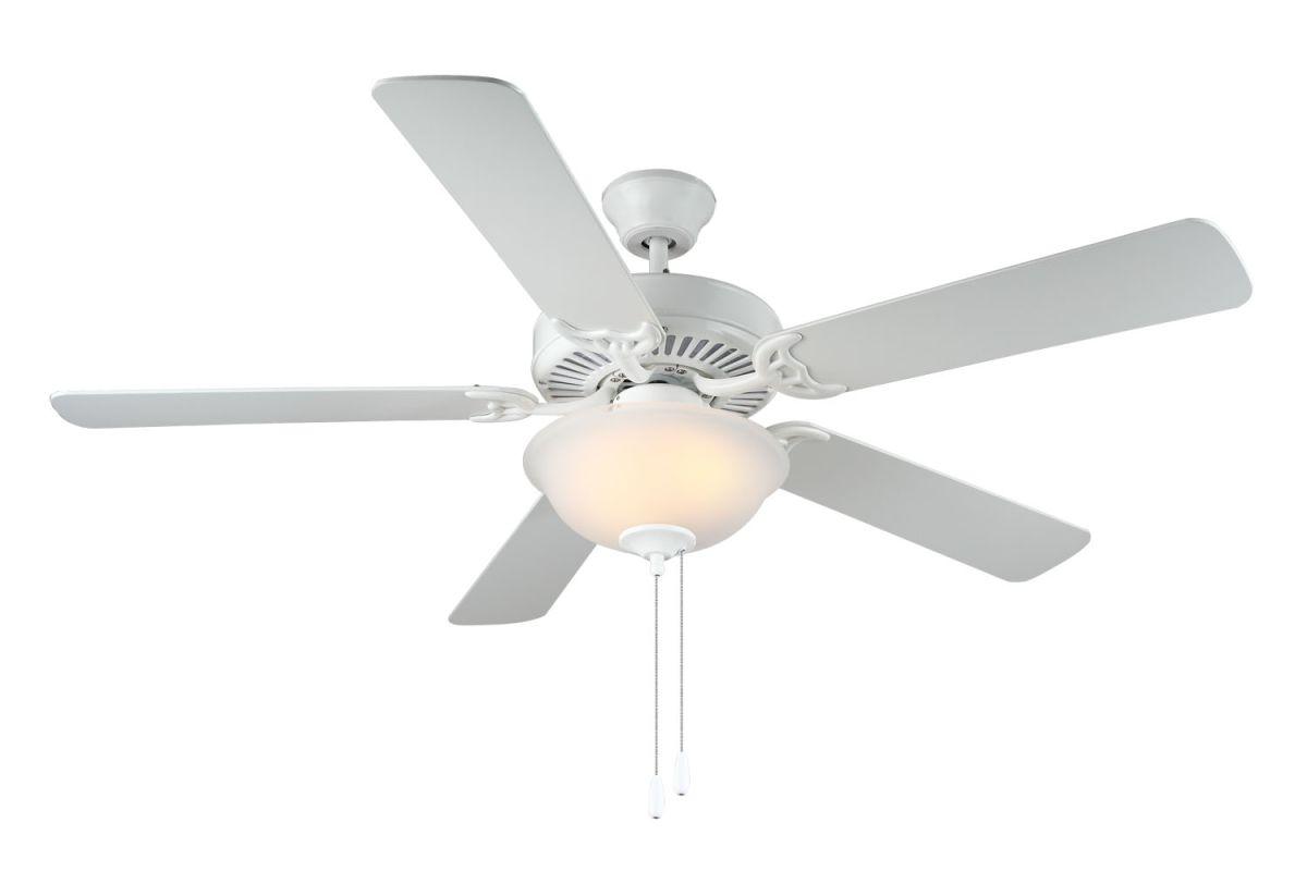 """Monte Carlo Homebuilder II Builder Fan II 52"""" 5 Blade Indoor Ceiling"""