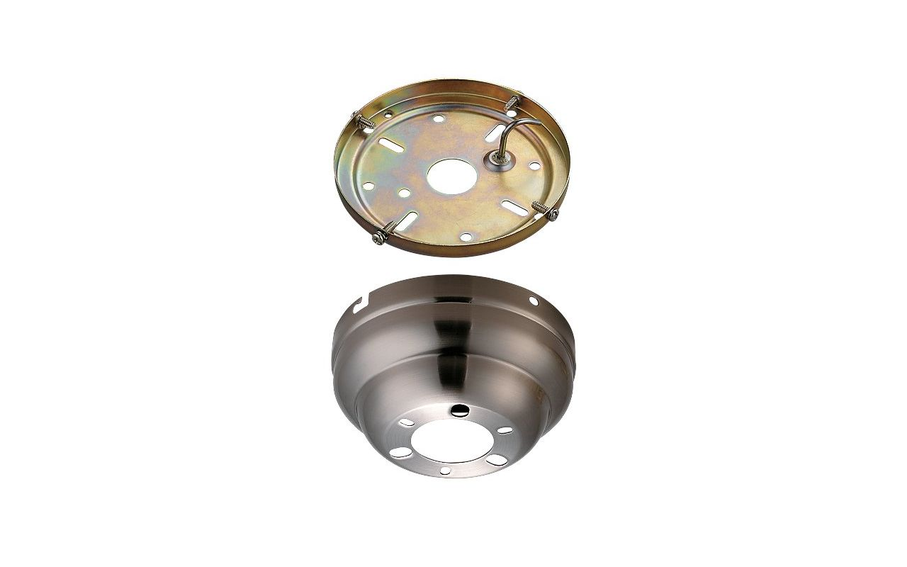 Monte Carlo MC90 Low Ceiling Adaptor Brushed Steel Ceiling Fan