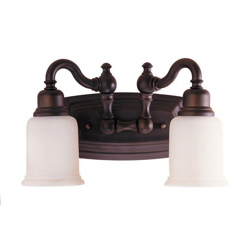 Murray Feiss VS8002 Canterbury 2 Light Bathroom Vanity Light Oil