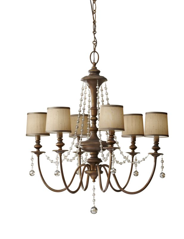 Murray Feiss F2722/6 Clarissa 6 Light Chandelier with Beaded Accents