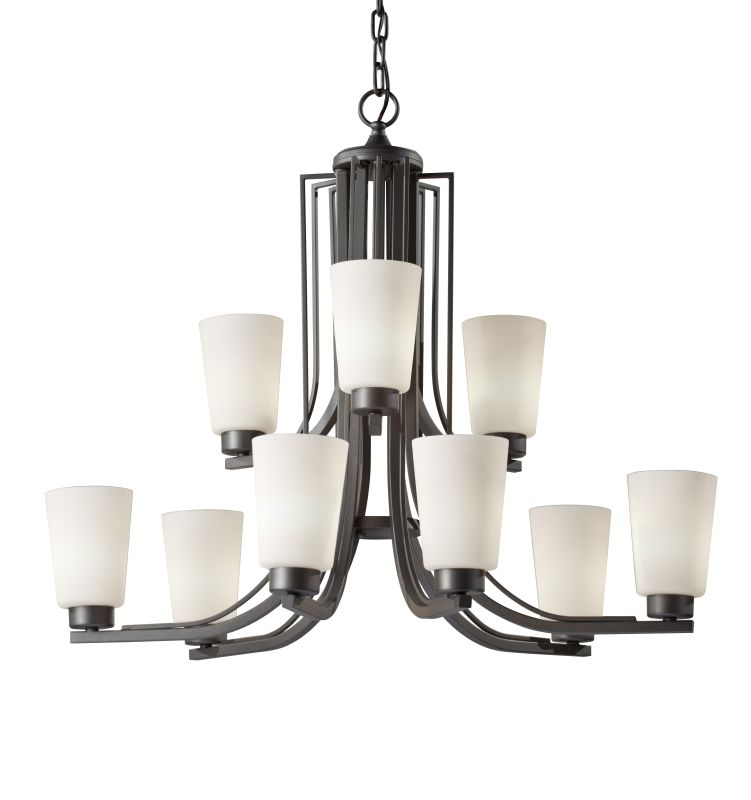 Murray Feiss F2764/6-3 Weston 9 Light Two Tier Chandelier Colonial