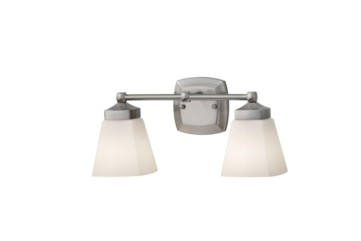 Murray Feiss VS19902 Delaney 2 Light Bathroom Vanity Light Brushed