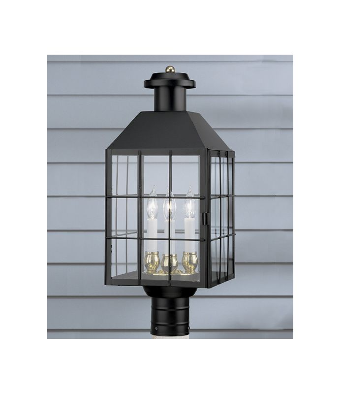 Norwell Lighting 1056 3 Light Outdoor Post Lantern from the American