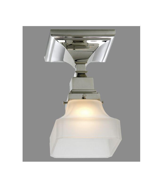 "Norwell Lighting 8121F Birmingham Single Light 5"" Wide Flush Mount"