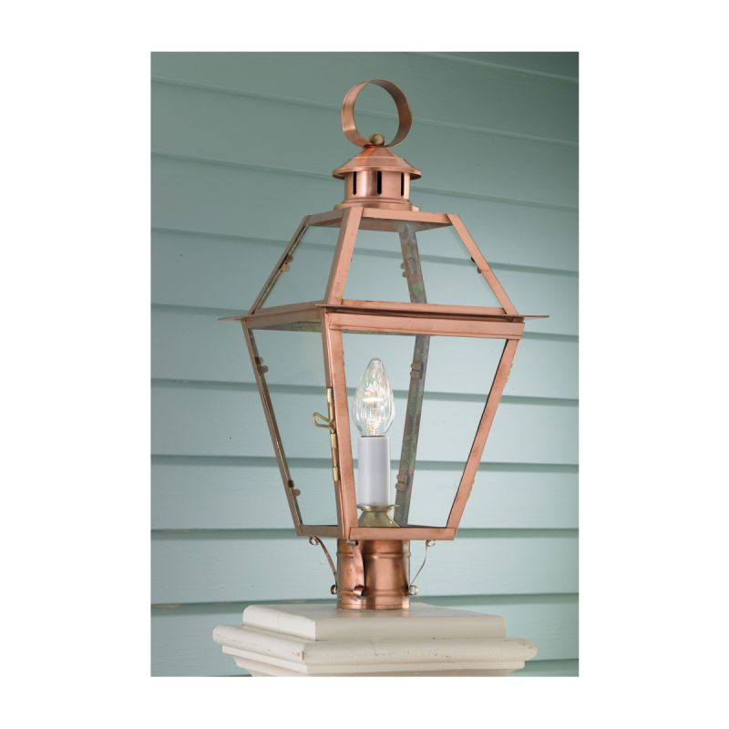 """Norwell Lighting 2250 Old Colony Copper Single Light 22"""" Tall Outdoor"""