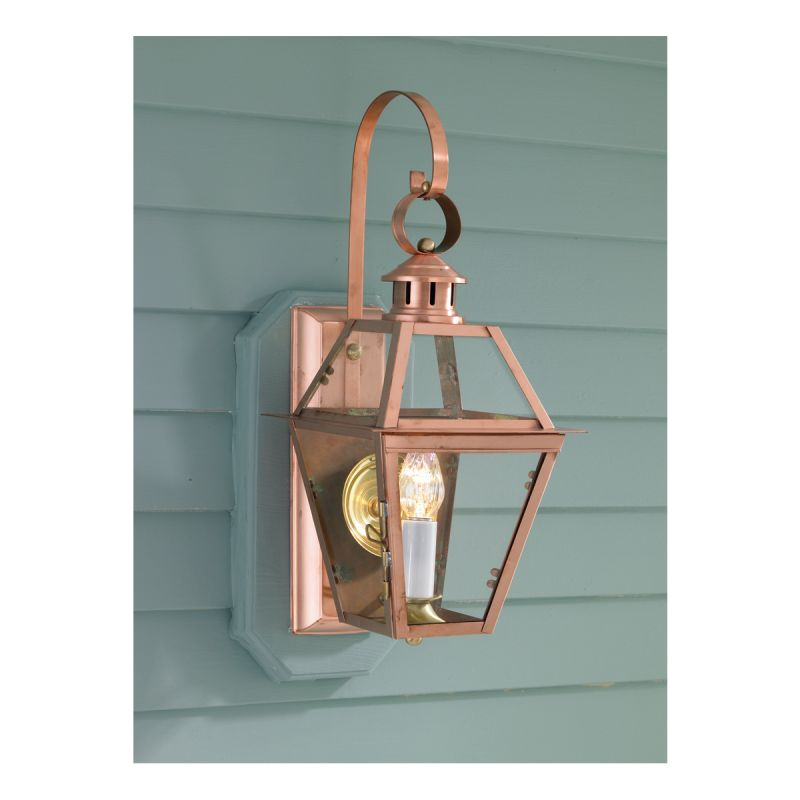 """Norwell Lighting 2253 Old Colony Copper Single Light 22"""" Tall Outdoor"""