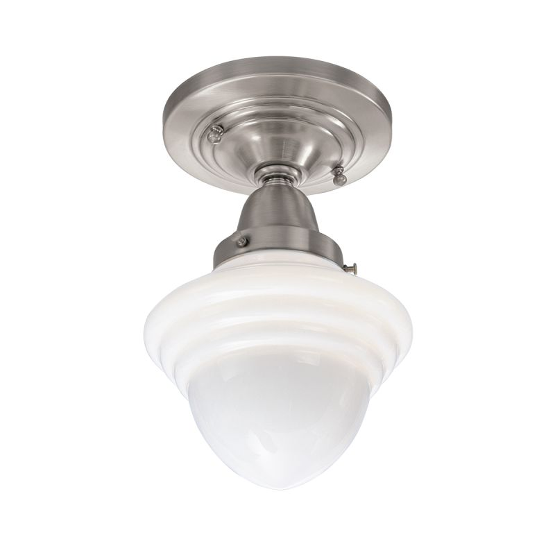 "Norwell Lighting 8201F Bradford Single Light 7"" Wide Flush Mount"
