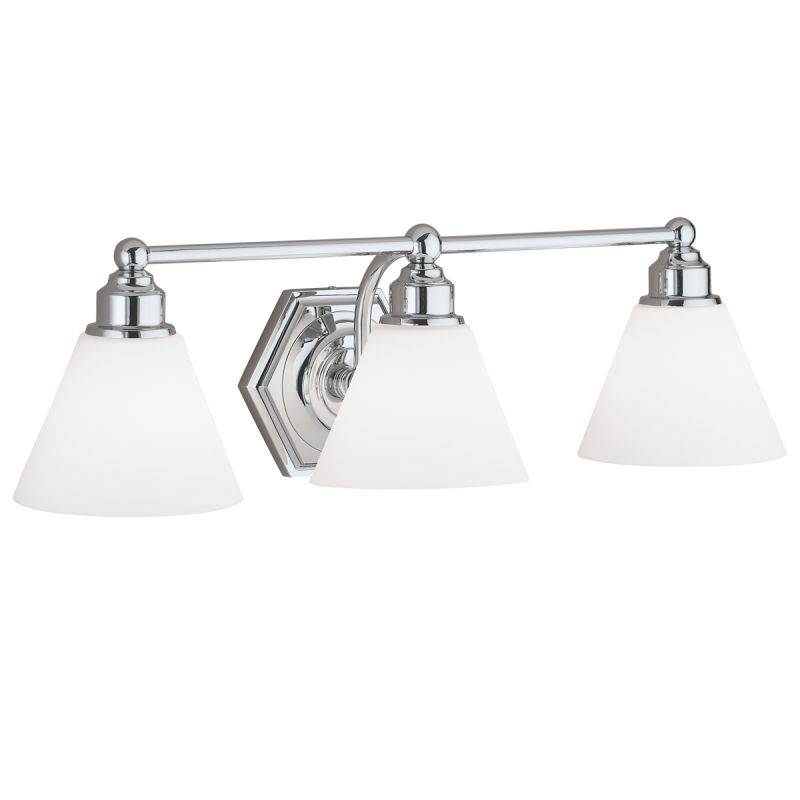 "Norwell Lighting 8533 Jenna 8"" Tall 3 Light Bathroom Vanity Light with"