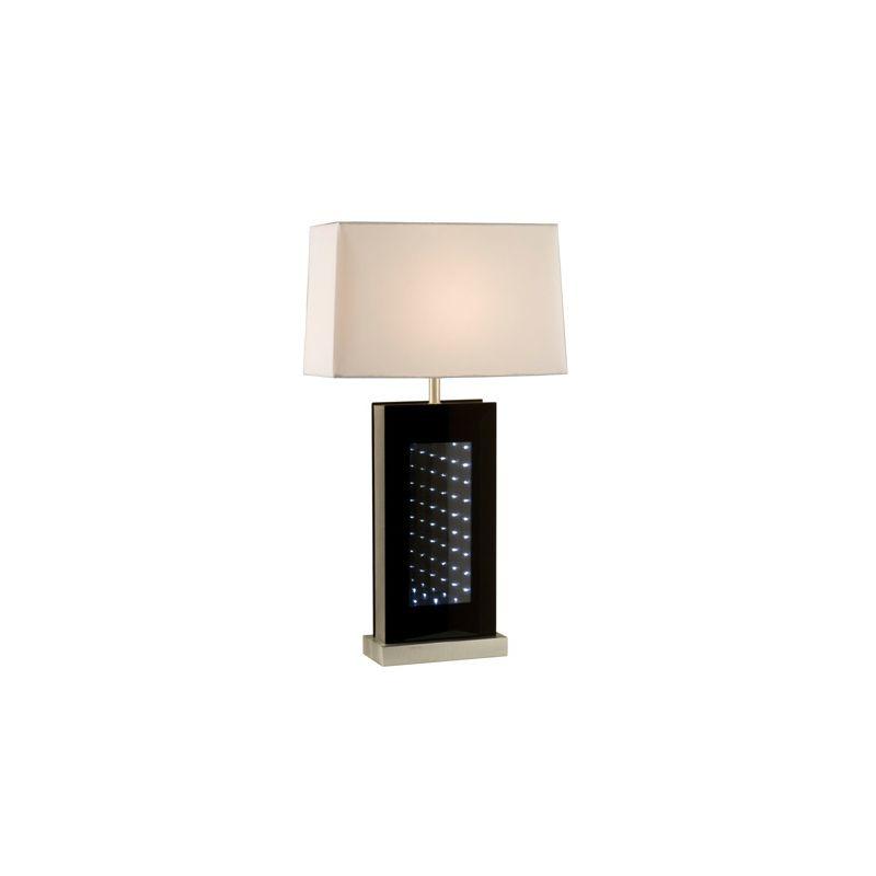 "Nova Lighting 1010139 Phantom 1 Light 28"" Tall Table Lamp Silver /"