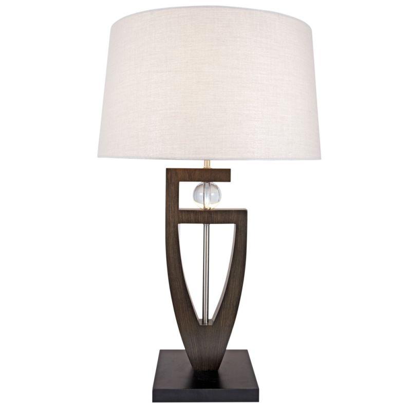 "Nova Lighting 1010389 Islington 1 Light 27"" Tall Table Lamp Pecan"