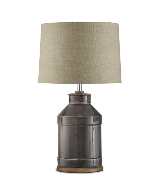 "Nova Lighting 1010793 Milk Jug 1 Light 28"" Tall Table Lamp Charcoal"