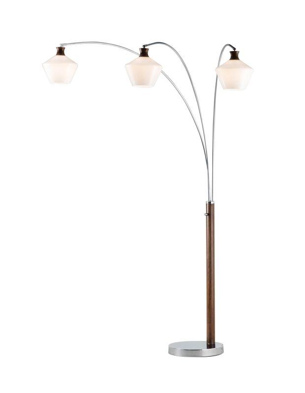 """Nova Lighting 2310657 Rumba 3 Light 79"""" Tall Floor Lamp Chrome Lamps"""