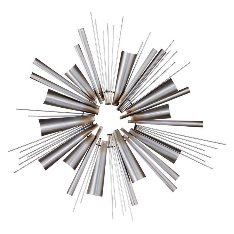 "Nova Lighting 3710242 Ignite 40"" Height Wall Art Brushed Nickel Home"