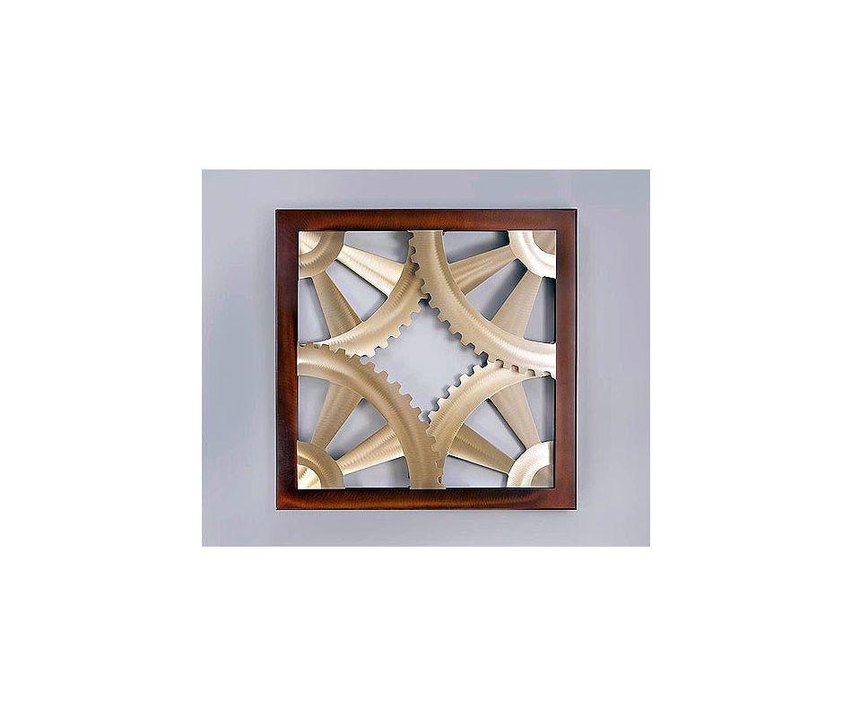 "Nova Lighting Gears Wall Art Jon Gilmore Design 36"" x 36"" Gears Wall"