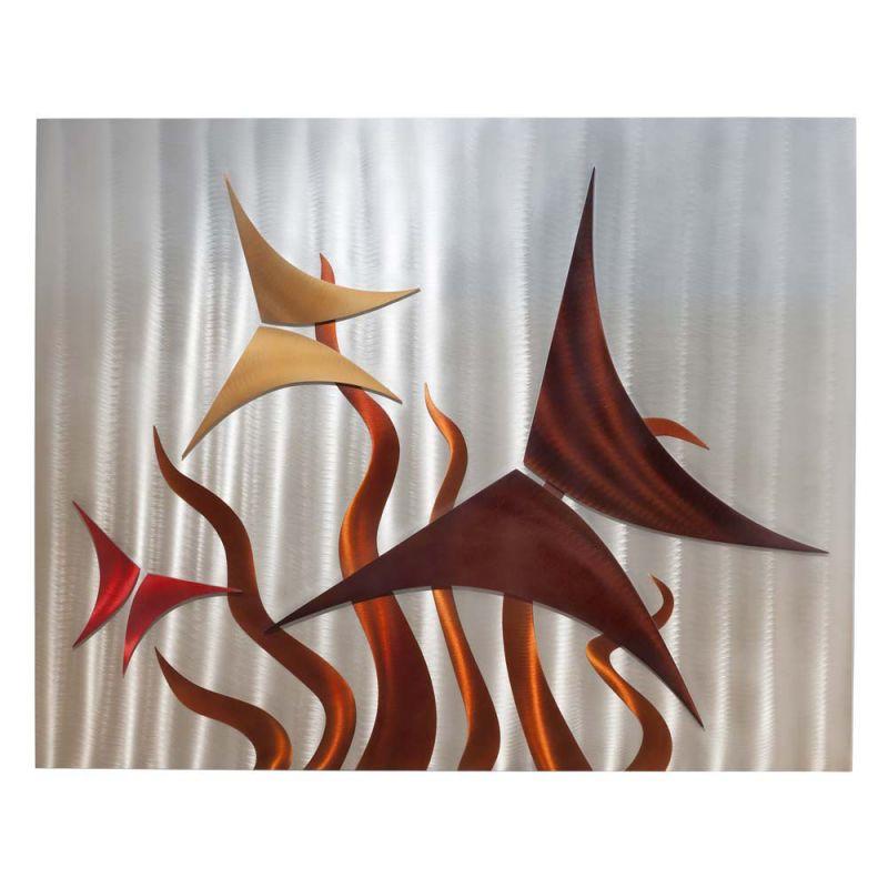 Nova Lighting 3710280 Mariposa Wall Art Brushed Aluminum Home Decor