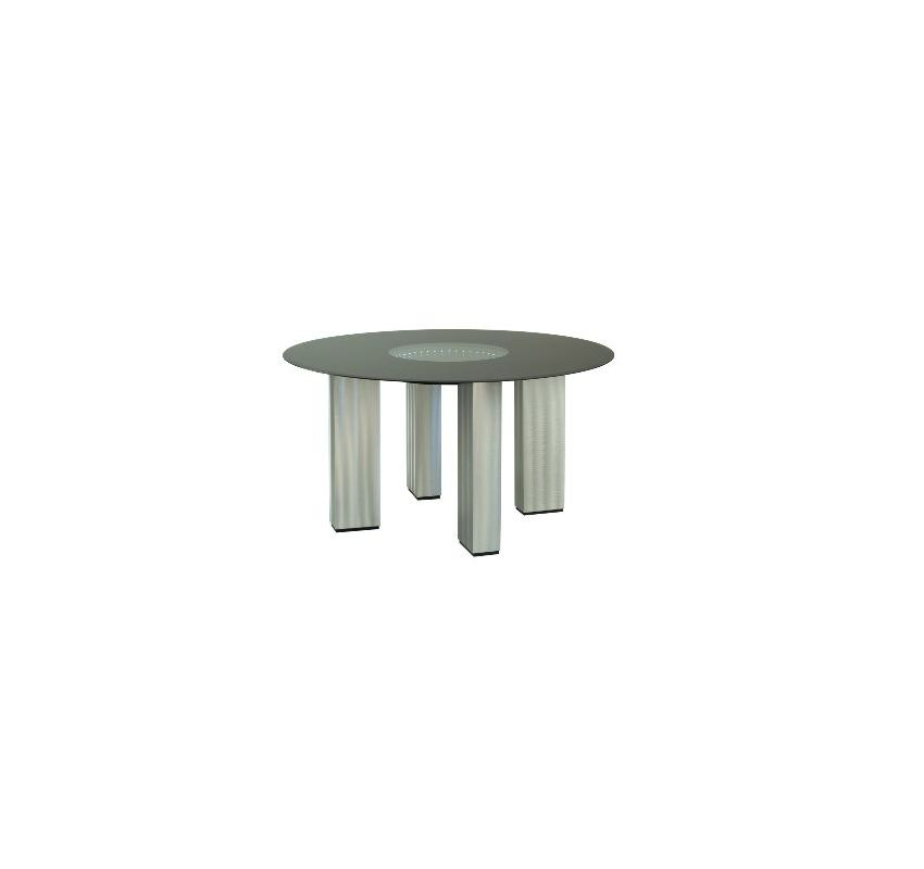 "Nova Lighting 5310122 Stealth 54"" Width Dining Table Brushed Aluminum"