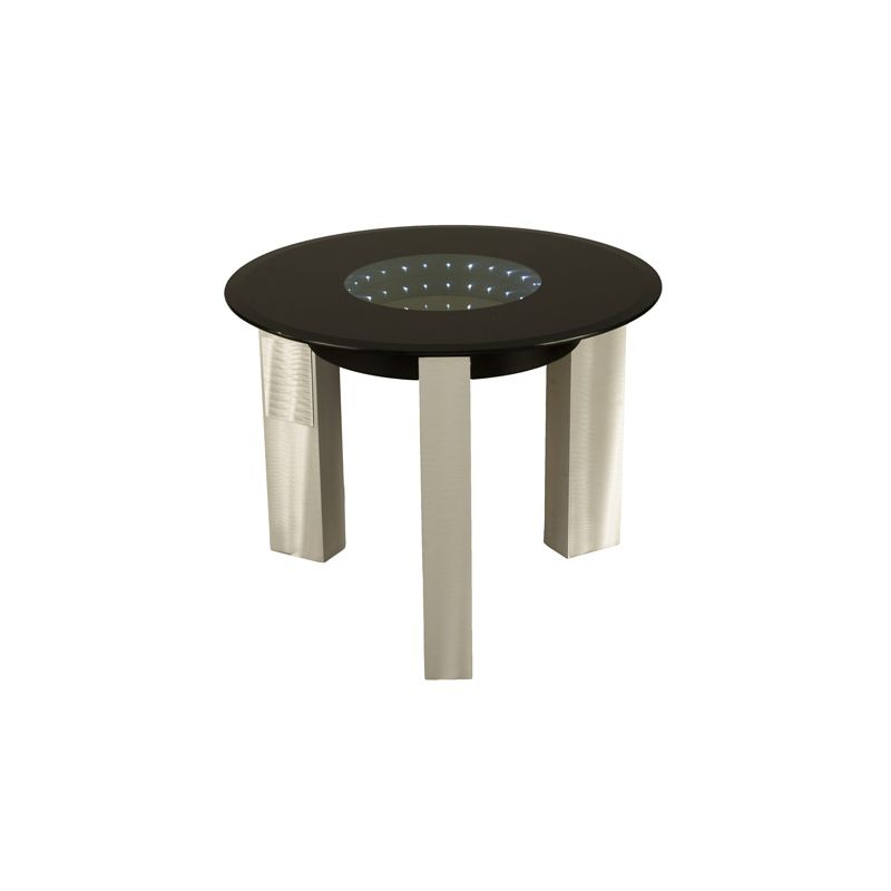 "Nova Lighting 5410143 Stealth 24"" Width End Table Brushed Aluminum /"