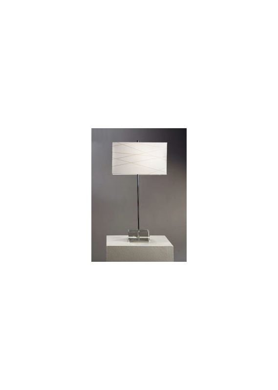 Nova Lighting 11153 28 Inch Table Lamp with White Linen Shade from the