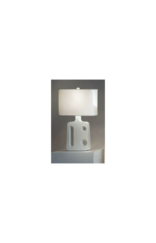 Nova Lighting 11341 26 Inch Standing Table Lamp with White Linen Shade