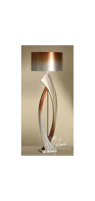 "Nova Lighting JFL4810 Swerve 1 Light 60"" Tall Floor Lamp Brushed"