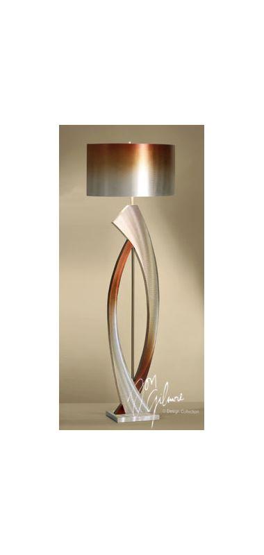 "Nova Lighting JFL4810 Swerve 1 Light 60"" Tall Floor Lamp Brushed"