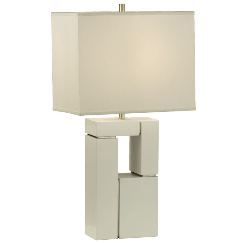 "Nova Lighting 1010081 Segments 28"" Height Table Lamp with White Linen"