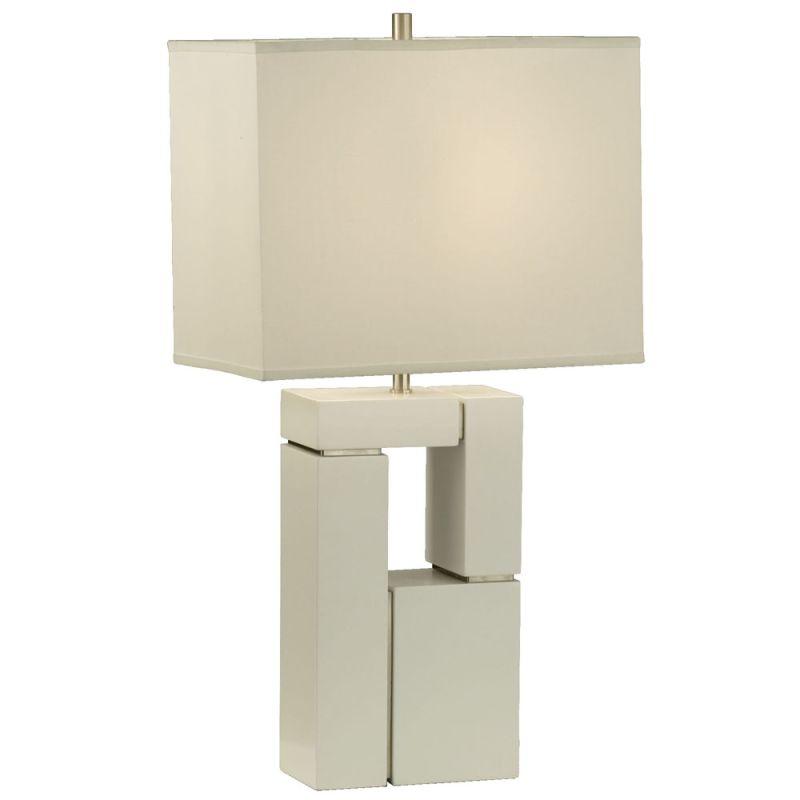 """Nova Lighting 1010081 Segments 28"""" Height Table Lamp with White Linen"""