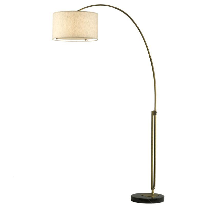 "Nova Lighting 2110104 Viborg 84.5"" Height Floor Lamp with Tan Linen"