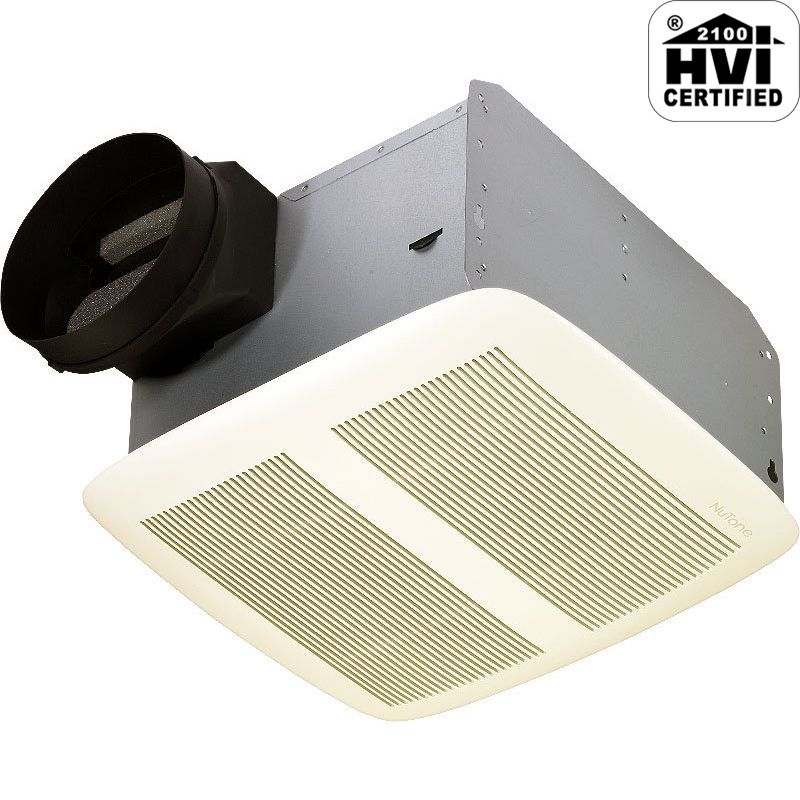 NuTone QTXEN080 80 CFM 0.3 Sone Ceiling Mounted Energy Star Rated HVI