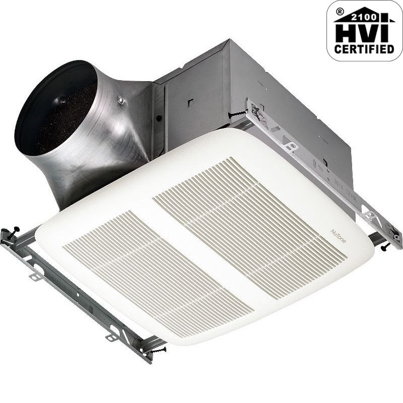 NuTone XN80 80 CFM 0.3 Sone Ceiling Mounted Energy Star Rated and HVI