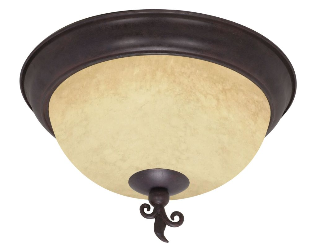 "Nuvo Lighting 60/041 Tapas 3 Light 15"" Wide Flush Mount Ceiling"