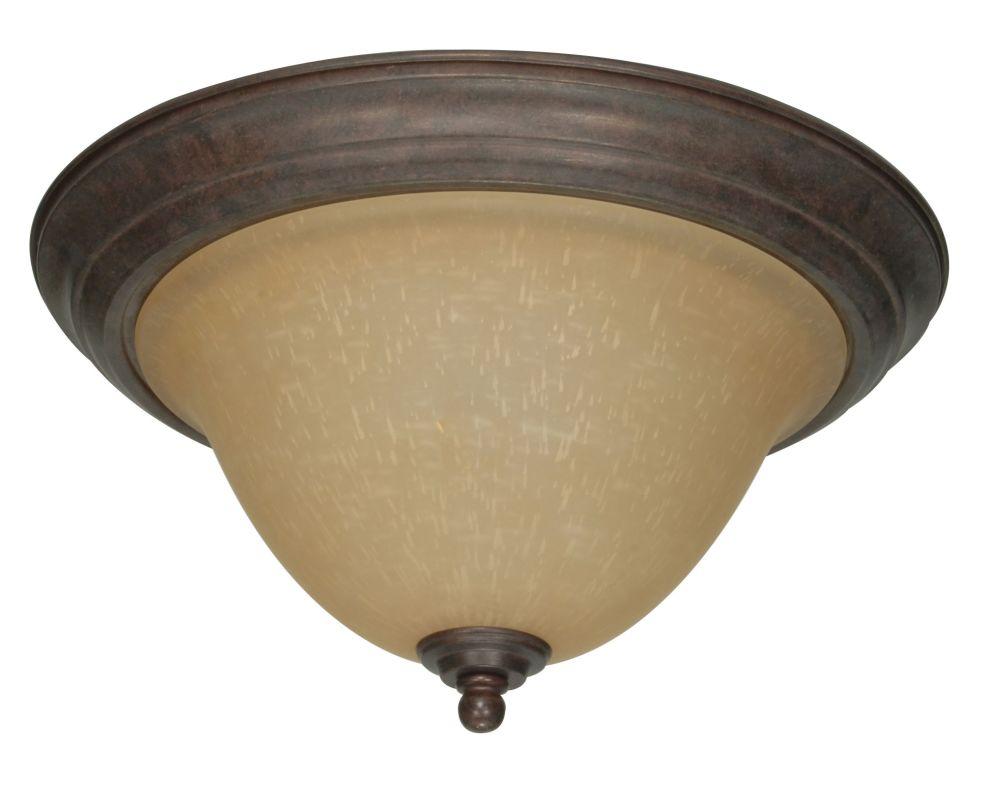 "Nuvo Lighting 60/1026 Castillo 2 Light 15.3"" Wide Flush Mount Ceiling"