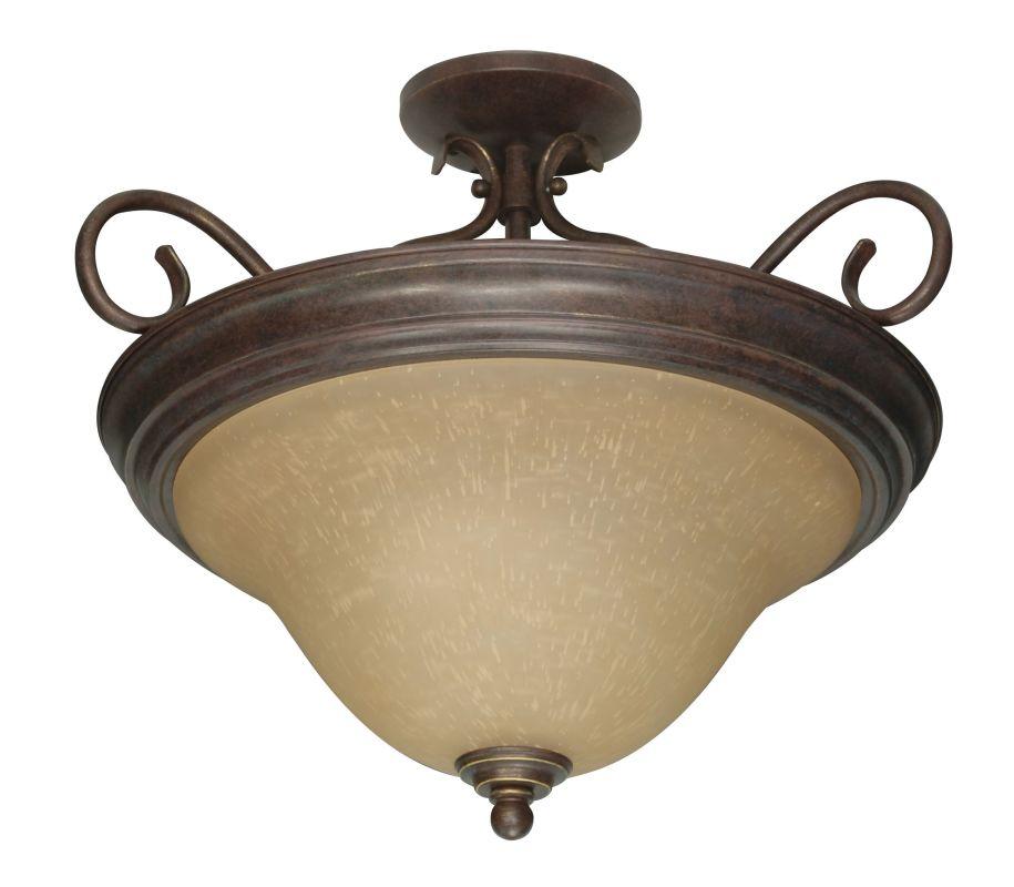 "Nuvo Lighting 60/1027 Castillo 3 Light 18.5"" Wide Semi-Flush Ceiling"