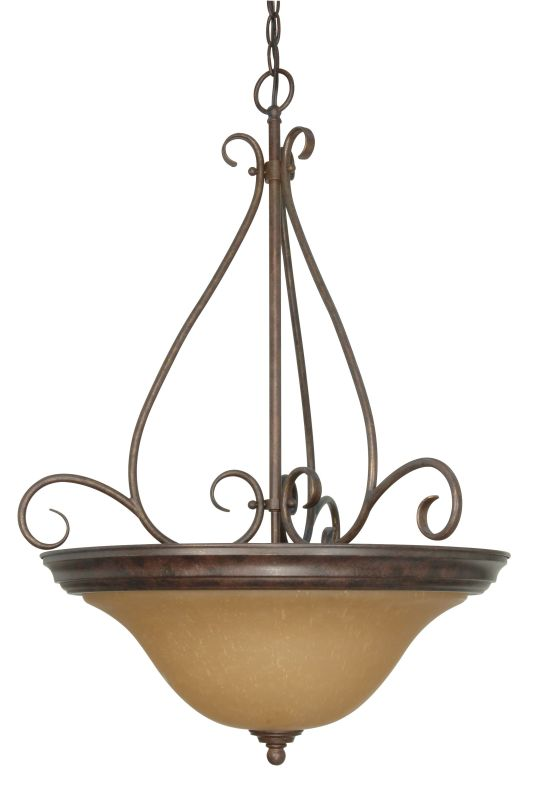 "Nuvo Lighting 60/1028 Castillo 3 Light 20.5"" Wide Pendant with"