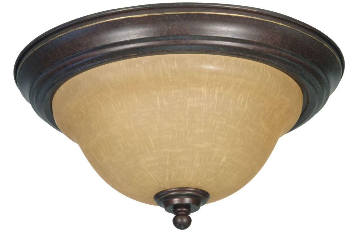 "Nuvo Lighting 60/1038 Castillo 2 Light 13.3"" Wide Flush Mount Ceiling"