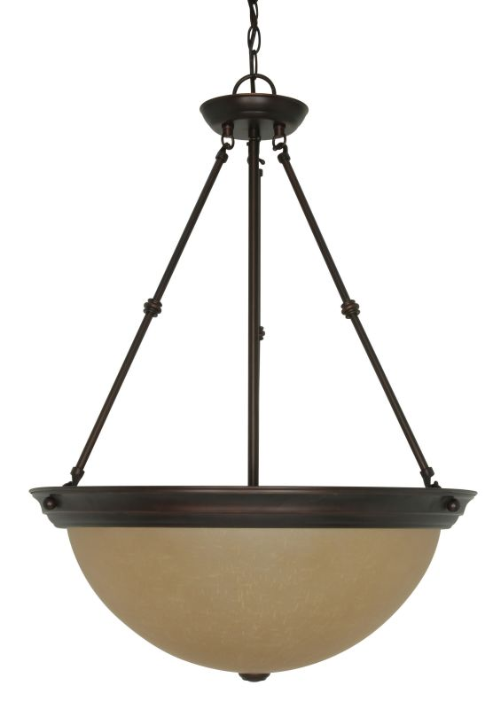 Nuvo Lighting 60/1263 Three Light Down Large Lighting Bowl Pendant