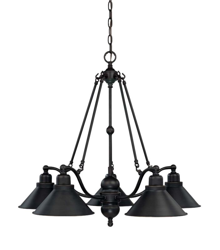 "Nuvo Lighting 60/1702 Bridgeview 5 Light 30"" Wide Chandelier Mission"